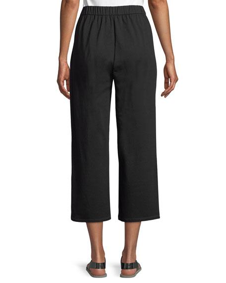Slouchy Cropped Organic Slub Jersey Pants, Petite