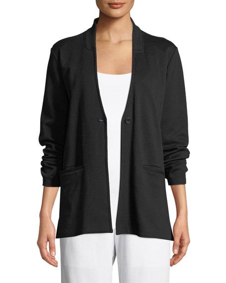 Tencel® Ponte Knit Easy Blazer, Plus Size