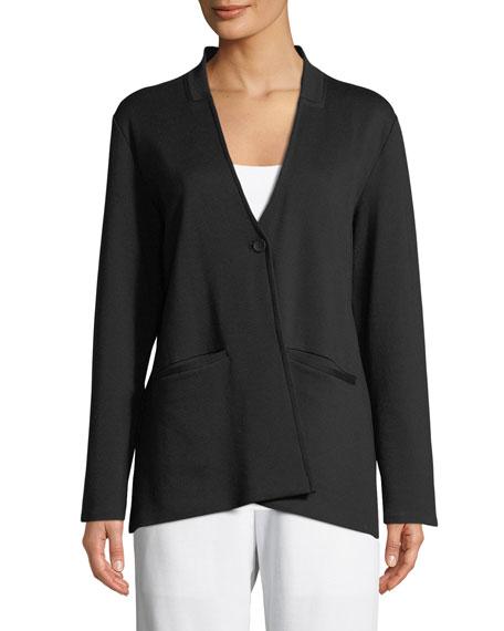 Tencel® Ponte Knit Easy Blazer, Petite