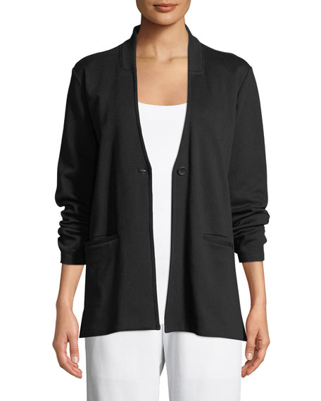 Eileen Fisher Tencel?? Ponte Knit Easy Blazer, Petite