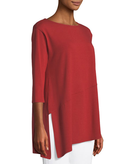Viscose Jersey Asymmetric Top, Petite
