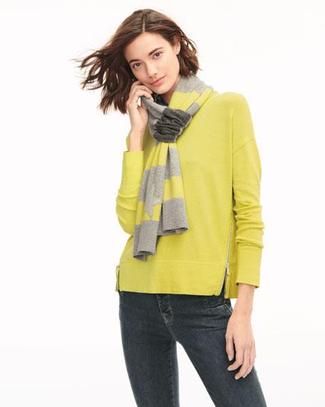 Zipline Sweater w/ Side Zipper Detail