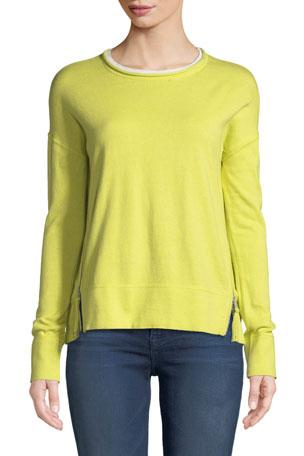 Lisa Todd Plus Size Zipline Sweater w/ Side Zipper Detail