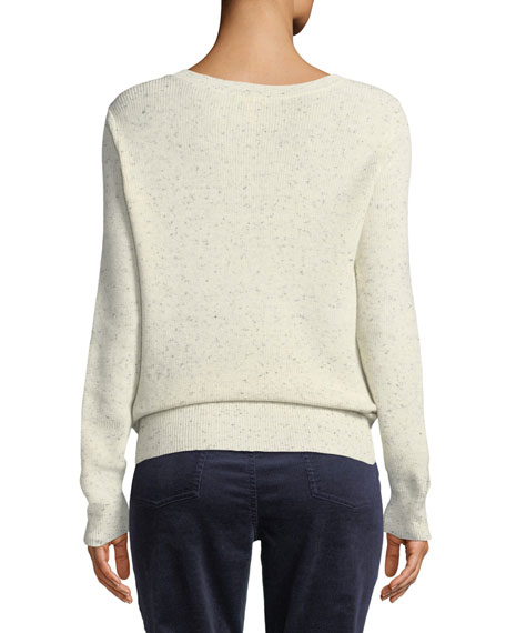 Speckle Knit Organic Cotton Pullover Sweater