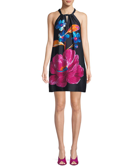 Trina Turk Roe Halter Dress in Floral Print