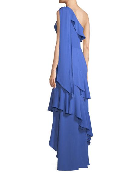 Jordan Long One-Shoulder High-Low Dress