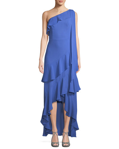 Jordan Long One-Shoulder High-Low Dress