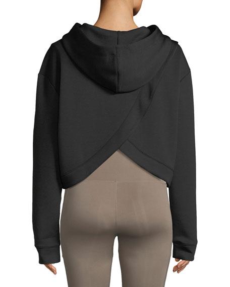 Morrison Cropped Activewear Hoodie Sweatshirt Top