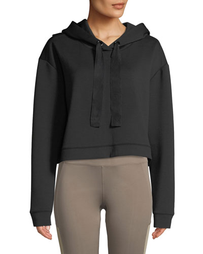 Morrison Cropped Activewear Hoodie Sweatshirt Top