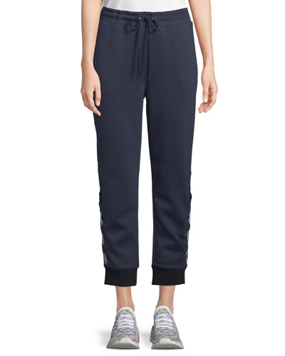 Bowery Jogger Track Pants with Lace-Up Detail