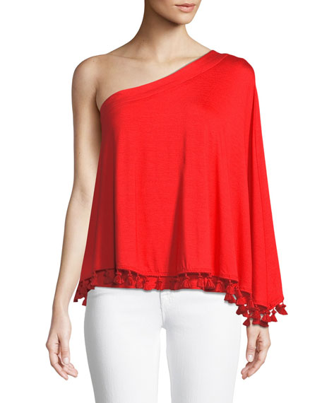 Pomona Tassel Top in Must-Have Jersey