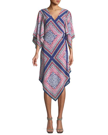 Alannah Wrap Dress in Meet Me in Malibu