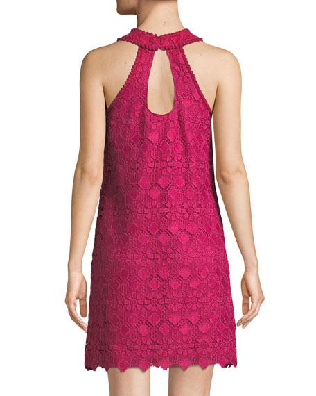 Deveny Halter Dress in Valencia Lace