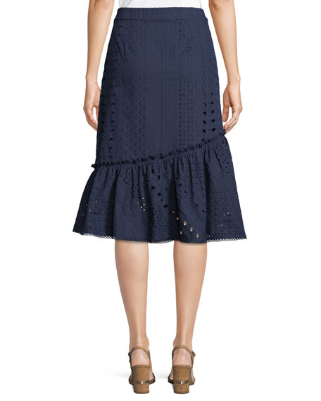 Vallejo Cotton Skirt w/ Eyelets