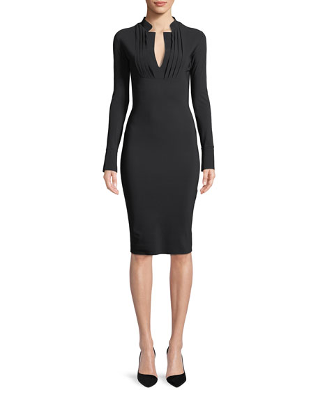 Doma Long-Sleeve Tuxedo Dress