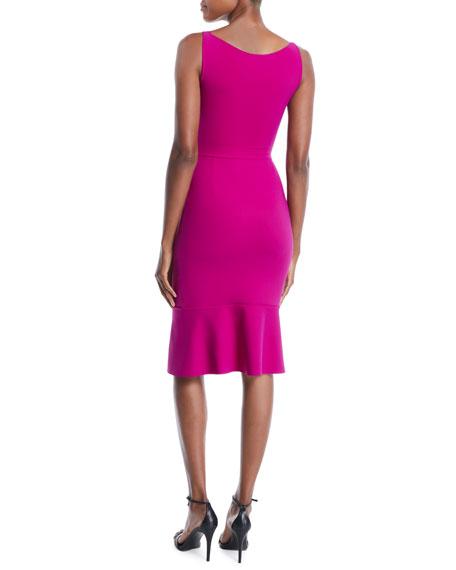 Maristella Sleeveless Dress w/ 3D Flower