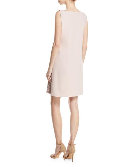Esen Sleeveless Dress w/ Demi-Mosaic Sequins