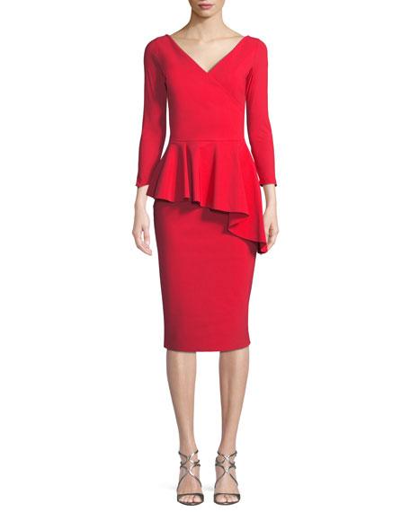 Chiara Boni La Petite Robe Gitana V-Neck Dress