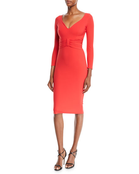 Chiara Boni La Petite Robe Claudetta V-Neck Dress