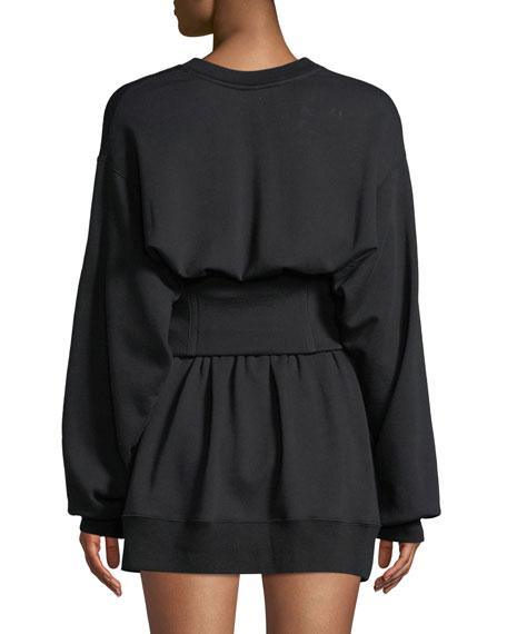 Crewneck Corset Sweatshirt Dress