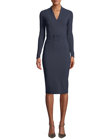Chiara Boni La Petite Robe Evalda Long-Sleeve Dress