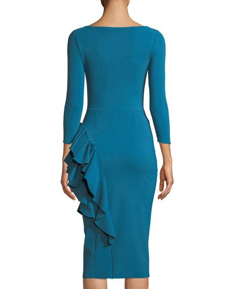Maria Body-Con Dress w/ Ruffle Skirt