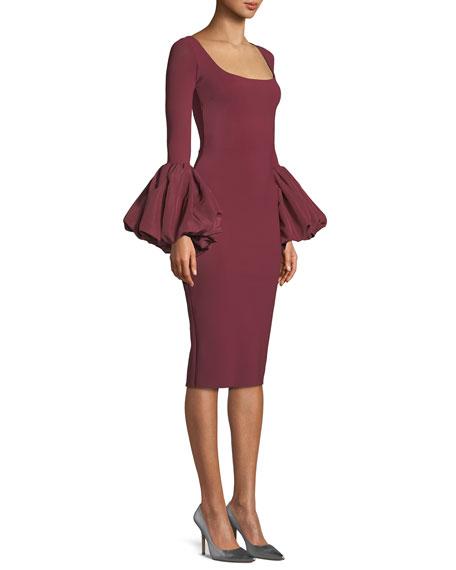 Ary Body-Con Dress w/ Balloon Sleeves