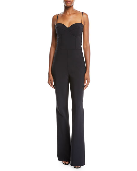Diony Bra-Top Jumpsuit w/ Flared Legs