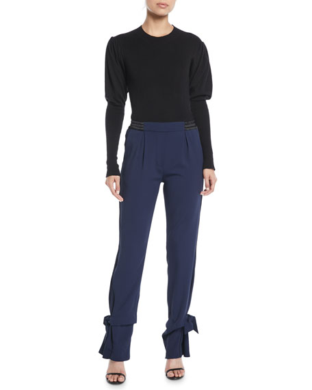 Combo Tie-Cuff Pull-On Pants