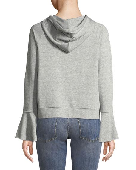 Betty Hooded Flare-Sleeve Hoodie Jacket