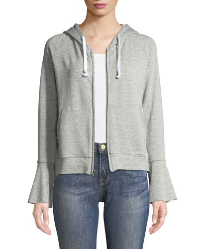 Betty Hooded Flare-Sleeve Hoodie Jacket