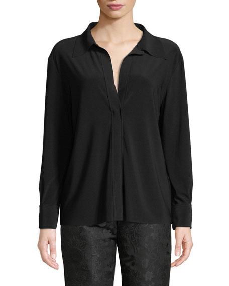 NK V-Neck Long-Sleeve Shirt
