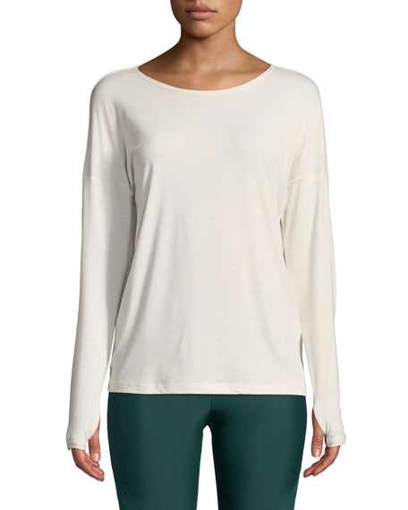 ONZIE DIAMOND BACK LONG-SLEEVE ACTIVE TOP