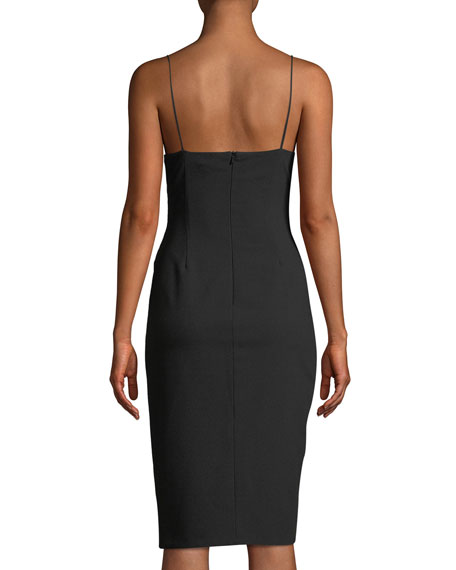Bowery Sleeveless Sheath Dress w/ Side Ruching