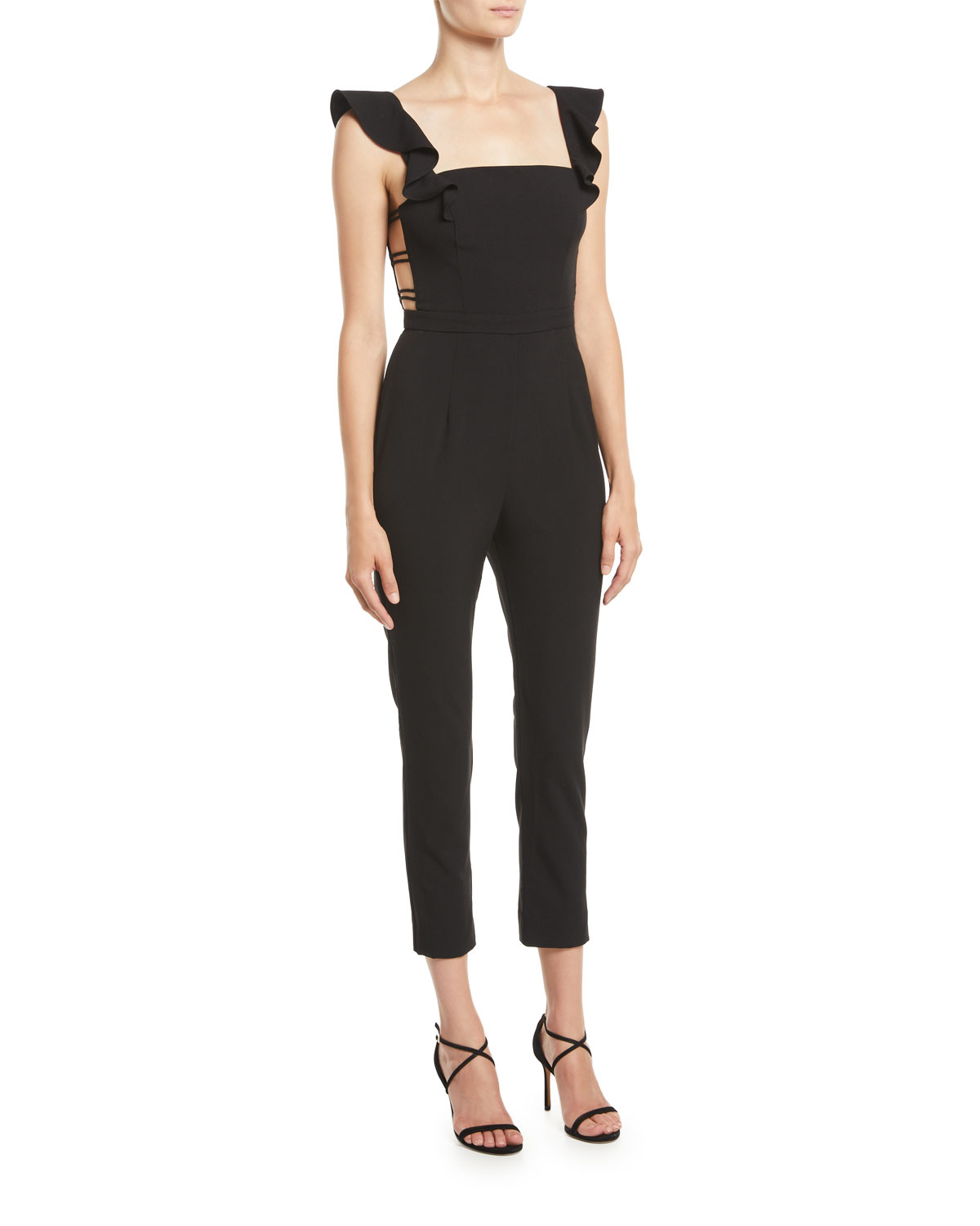 Fame And Partners The Lunar Jumpsuit W Strappy Sides Neiman Marcus