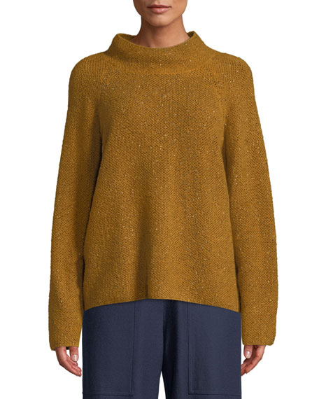 Eileen Fisher Tweedy Funnel-Neck Sweater and Matching Items