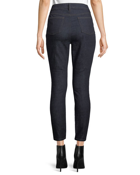 High-Waist Organic Cotton Skinny Jeans