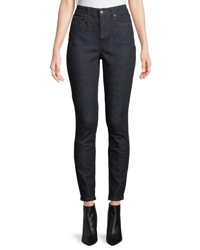High-Waist Organic Cotton Skinny Jeans