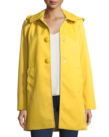 mac single-breasted a-line rain coat