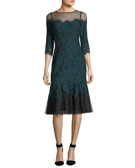 Rickie Freeman for Teri Jon Lace Illusion Dress