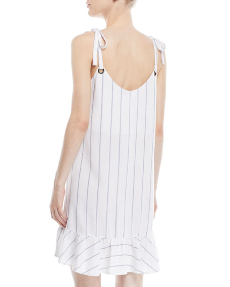 Diana Striped Flounce Mini Dress