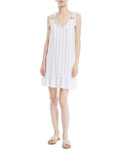 Diana Striped Flounce Mini Dress