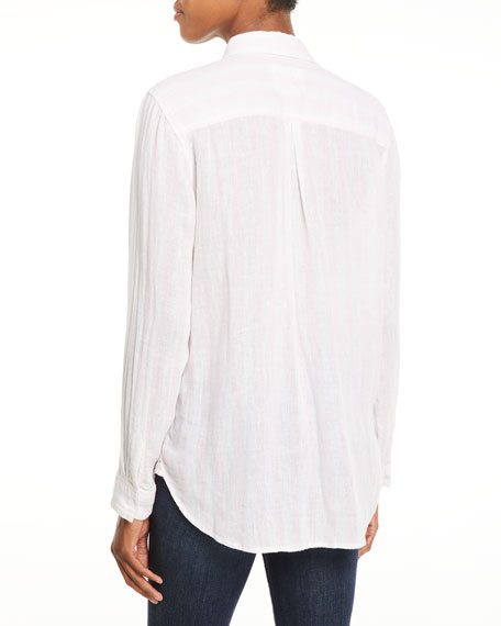 Charli Striped Button-Front Top
