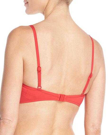 Quilted Triangle Bikini Swim Top