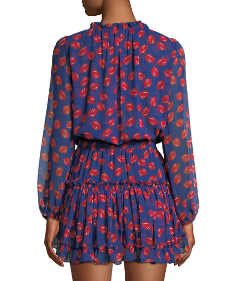 Carla Printed Ruffle Mini Dress
