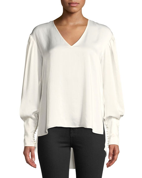 Joie Kynthia Bishop-Sleeve High-Low Top