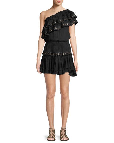 Larisa One-Shoulder Ruffle Mini Dress