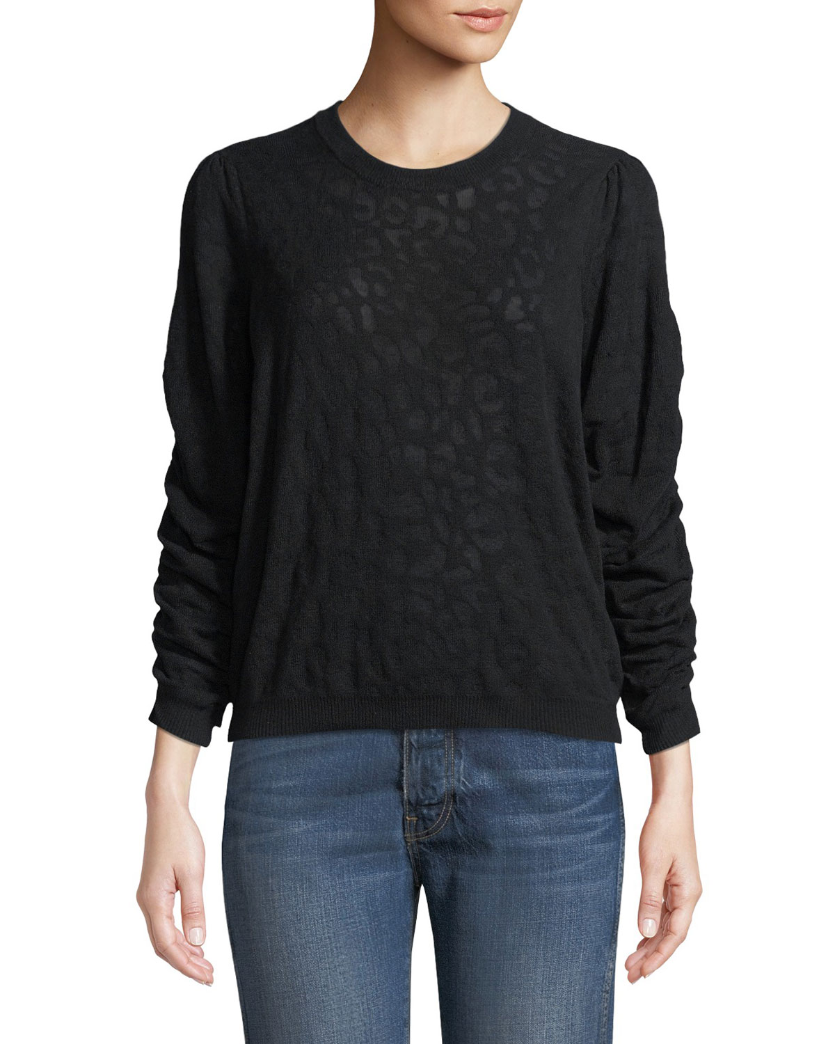 3bc96d104d08 Joie Itana Leopard Jacquard Pullover Sweater | Neiman Marcus