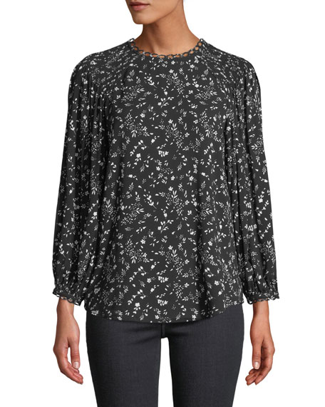 Joie Lissane Ditsy Floral Long-Sleeve Top