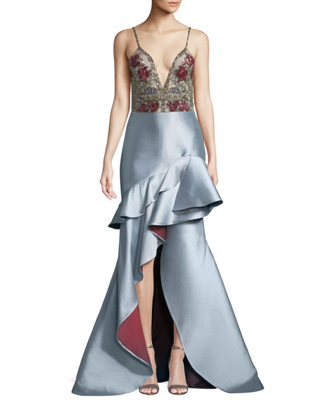 Trumpet Gown w/ Beaded Bodice